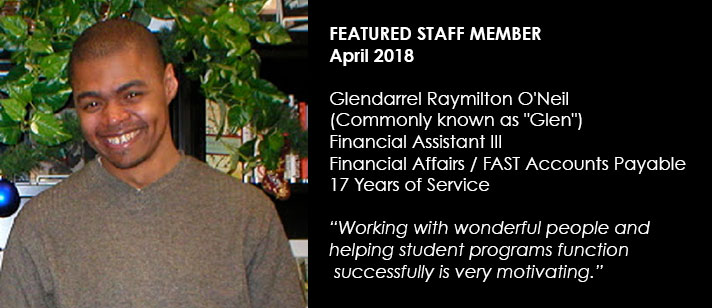 Featured Staff April 2018